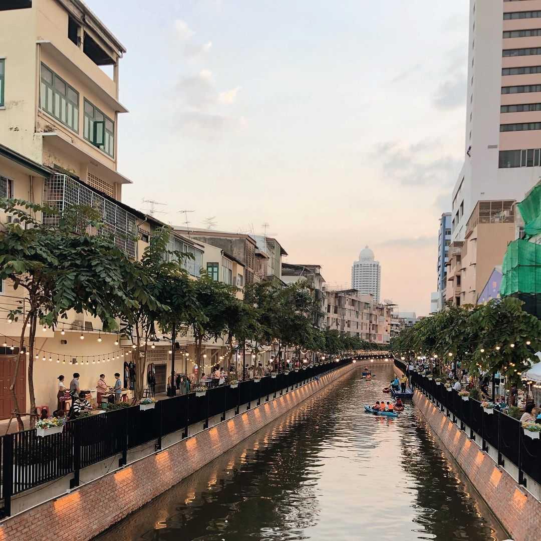 Ang Ang Canal in Chinatown (Bangkok) overdag