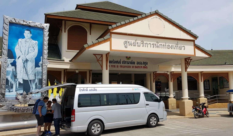 Aangekomen bij de Pak Bara pier in Thailand