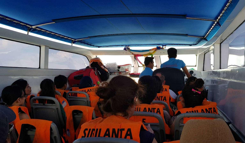 Met de sppedboot vanaf Pak Bara naar Koh Lipe in Thailand