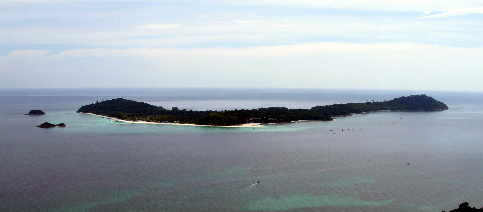 Koh Lipe in the distance from Koh Adang in Thailand