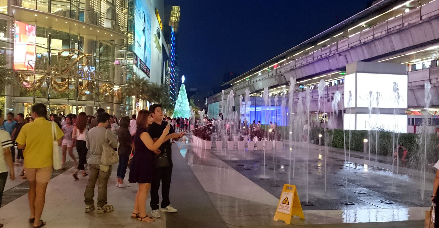 Siam Square, square in front of shopping mall Siam Paragon