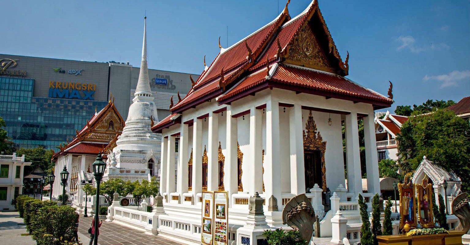 Siam Square, centrum Bangkok, Pathum Wanaram Temple