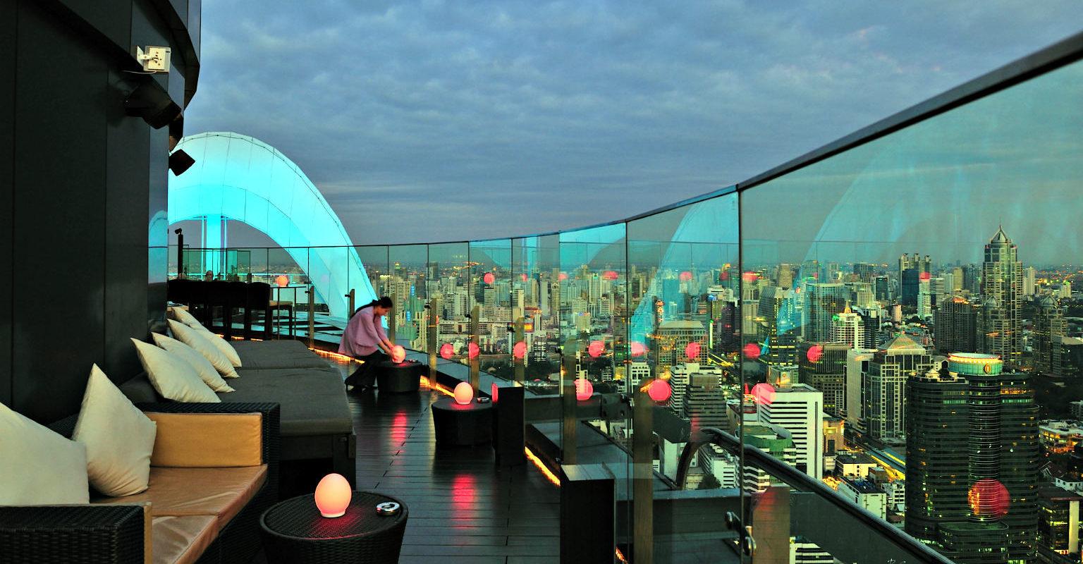 Siam Square, sky bar, Red Sky
