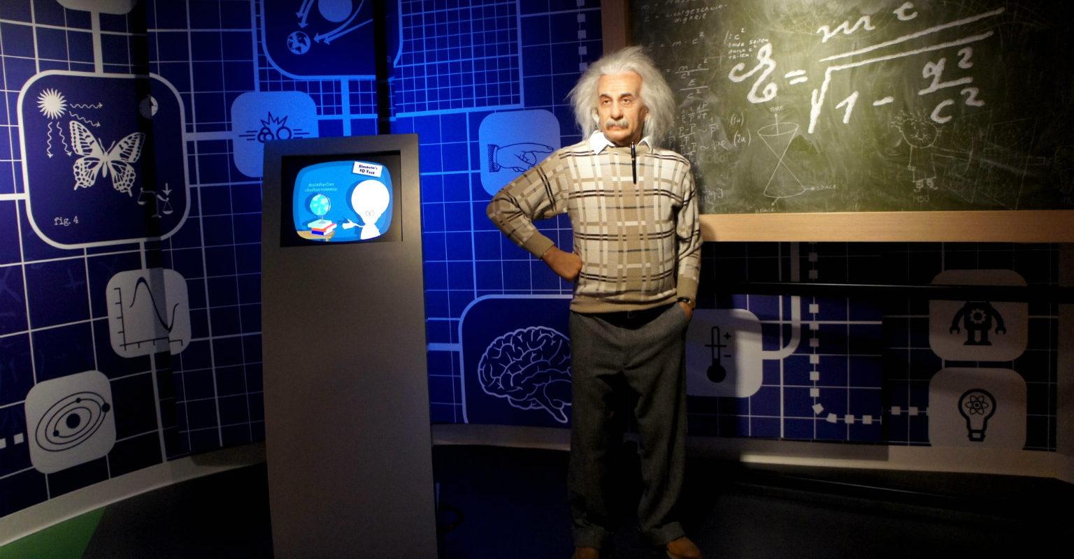 Einstein in Madame Tussaud, wassen beelden museum in Bangkok
