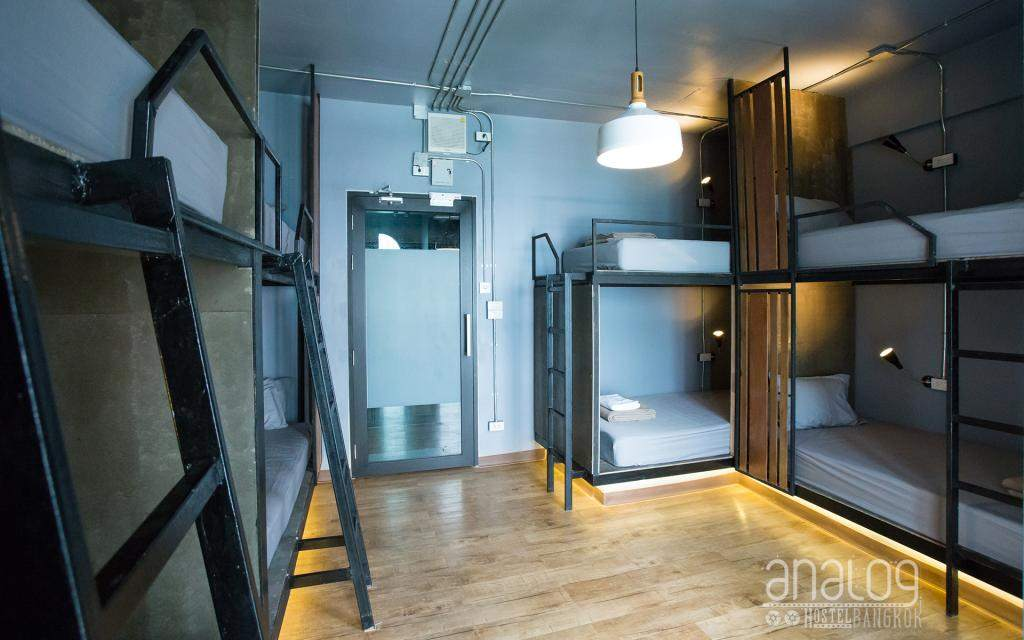 Dormroom van het Analog Hostel in Asok, Bangkok