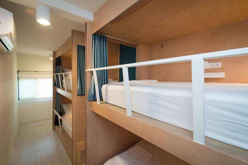 De dormroom van Suk18 Hostel in Bangkok