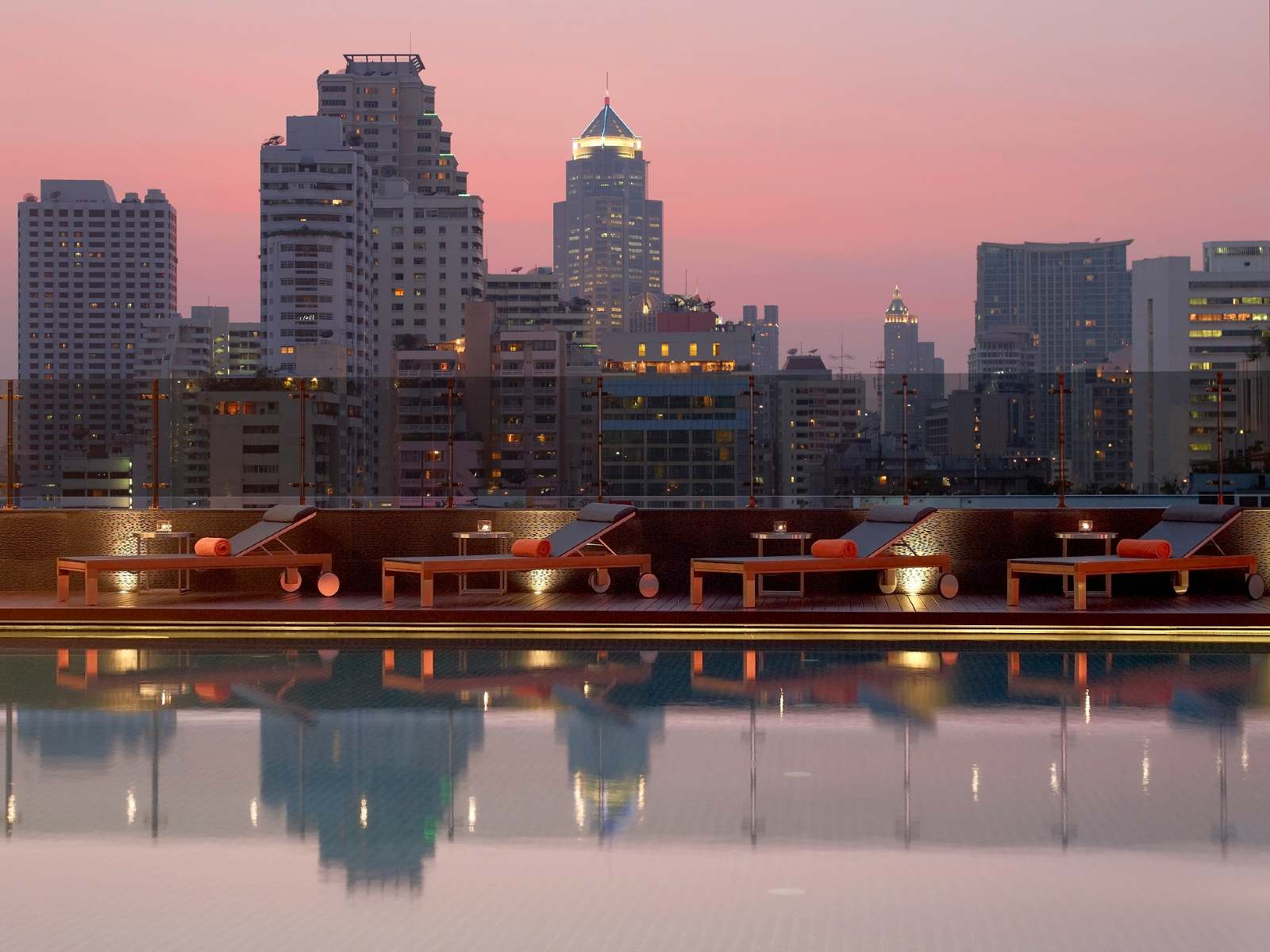 The saltwater pool of The Westin Grande Sukhumvit in the Asok area of Bangkok, Thailand