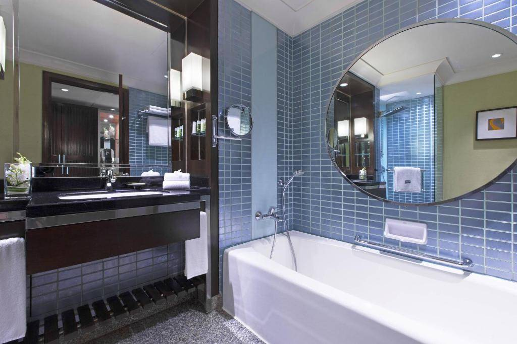 The bathroom of The Westin Grande Sukhumvit in the Asok area of Bangkok, Thailand.