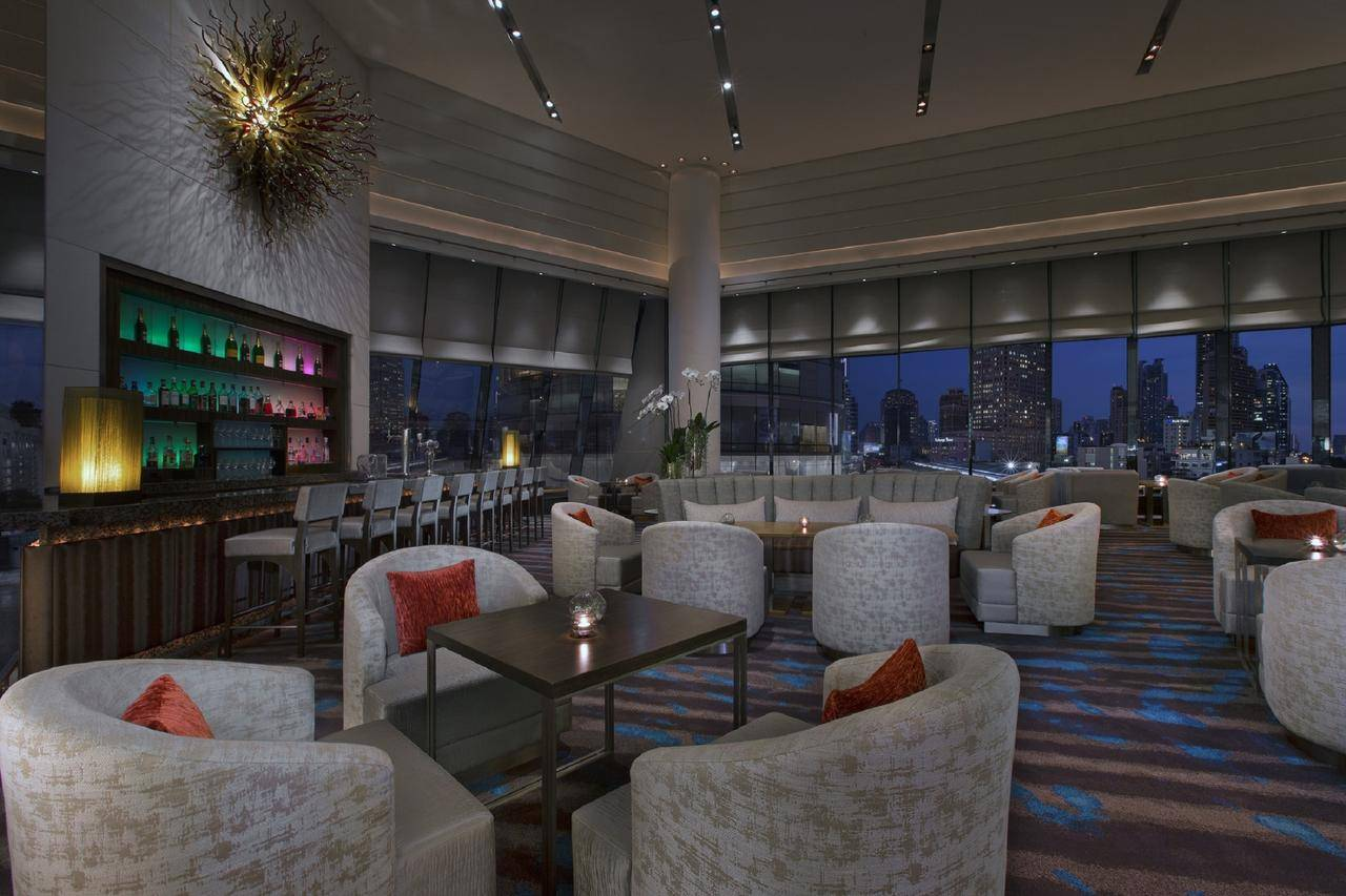 The lounge of The Westin Grande Sukhumvit in the Asok area of Bangkok, Thailand.