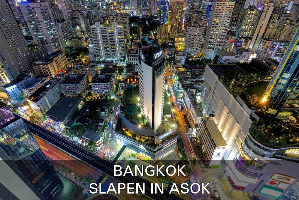 Find here the best places to sleep in the Asok area of Bangkok, Thailand