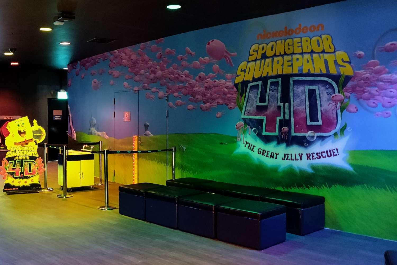 SpongeBob Aquarepants 4D cinema in Sea life Bangkok Ocean World