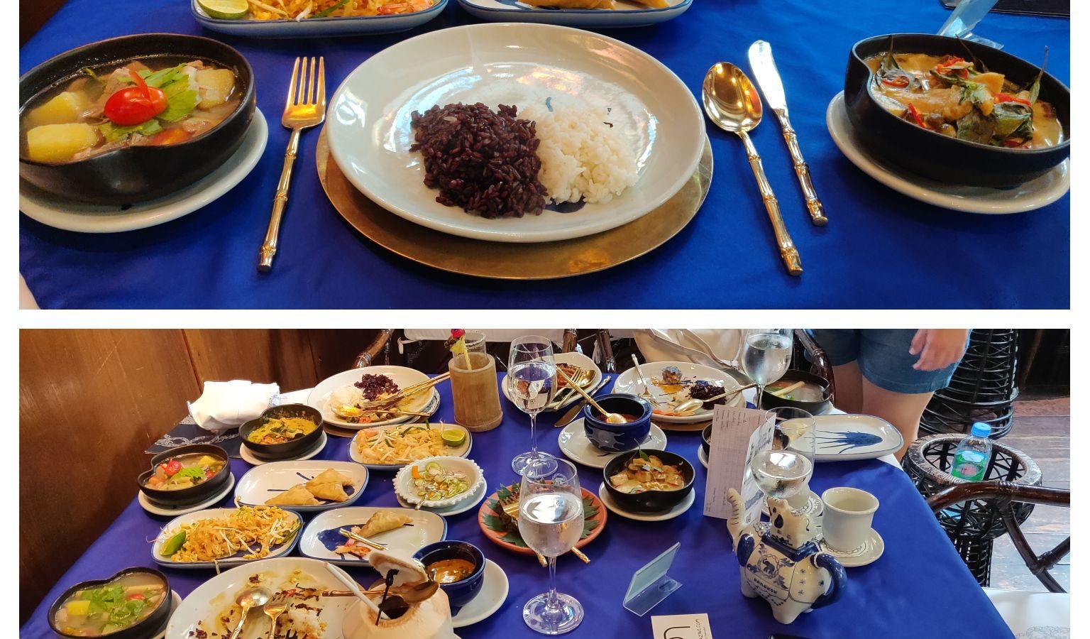 Eigen kookkunsten bij Blue Elephant Restaurant & Cooking School in Bangkok, Thailand