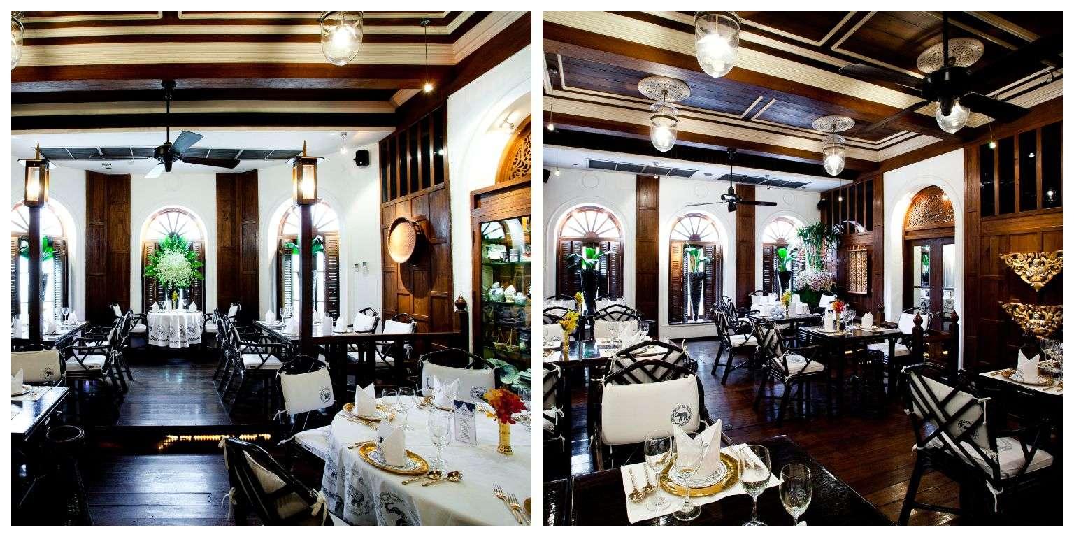 Restaurant van Blue Elephant waar je na de kooklessen gaat eten
