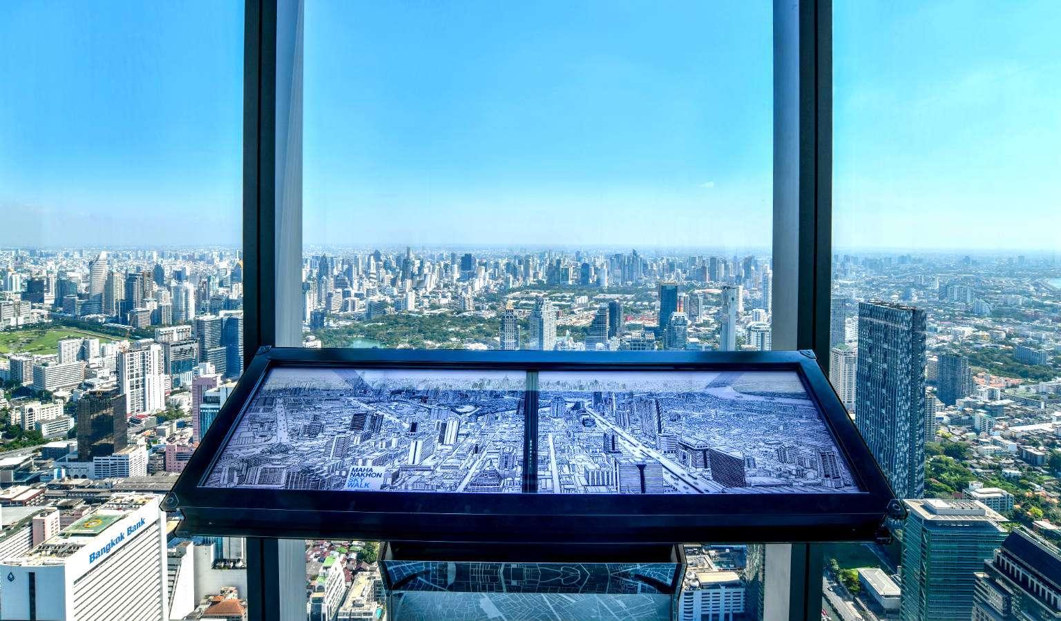 Interactief scherm King Power Mahanakhon Bangkok