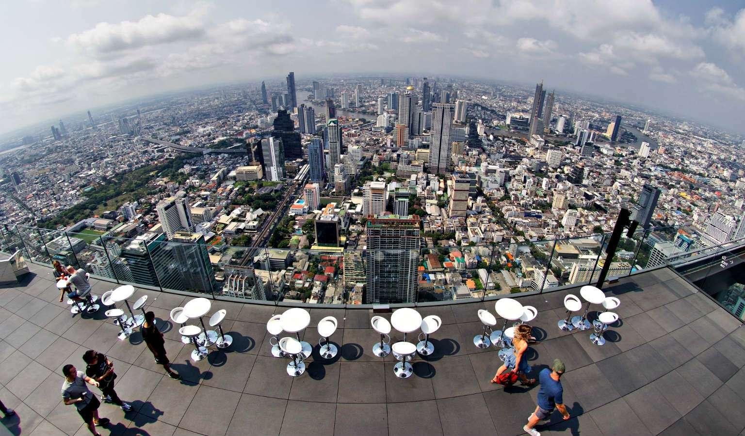 Uitzicht vanaf Mahanakhon SkyWalk Bangkok