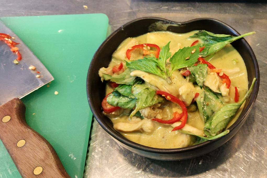 Green curry at Blue Elephant
