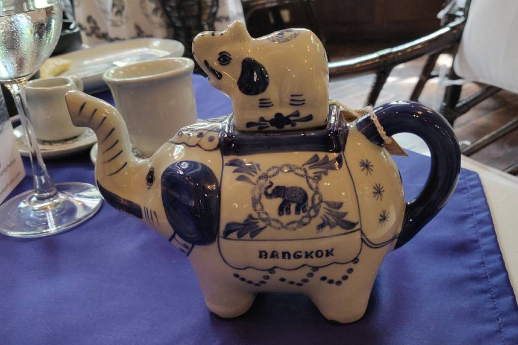 Nice tea pot at Blue Elephant Restaurant in Bangkok