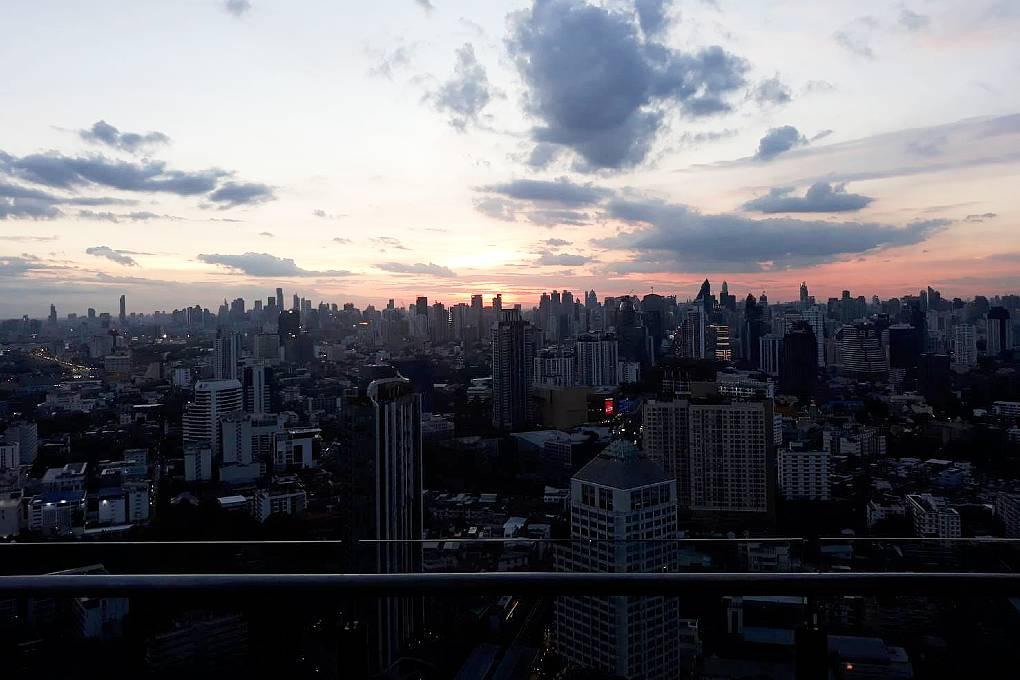 View over the sky line of Bangkok from Cielo Sky Bar & Restaurant