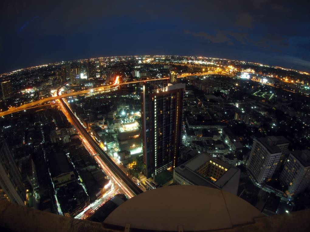 View over Bangkok at night from Cielo Sky Bar & restaurant Sky Walk