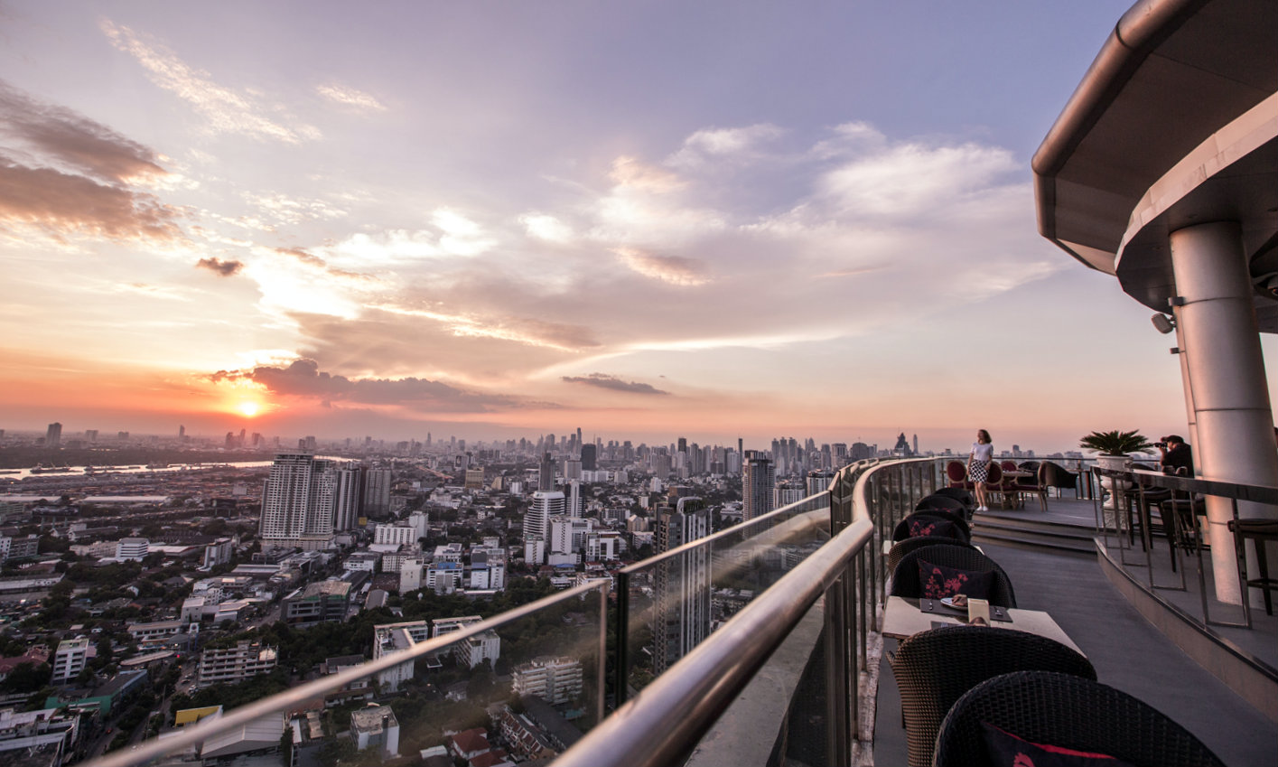 The views from Cielo Sky Bar & Restaurant in Bangkok, Thailand