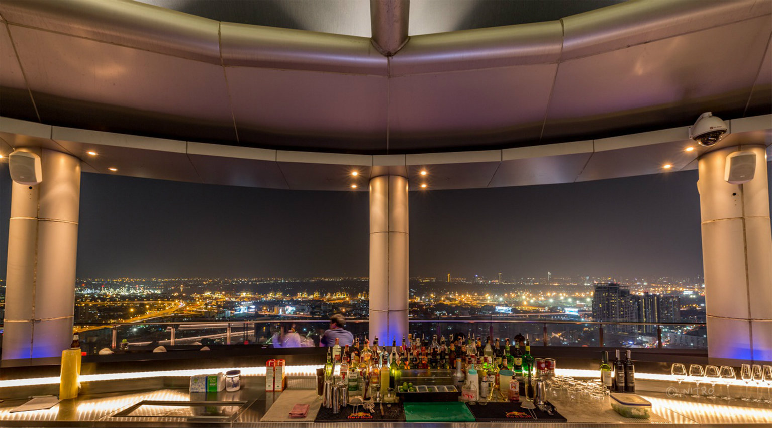 The bar at Cielo Sky Bar & Restaurant in Bangkok, Thailand