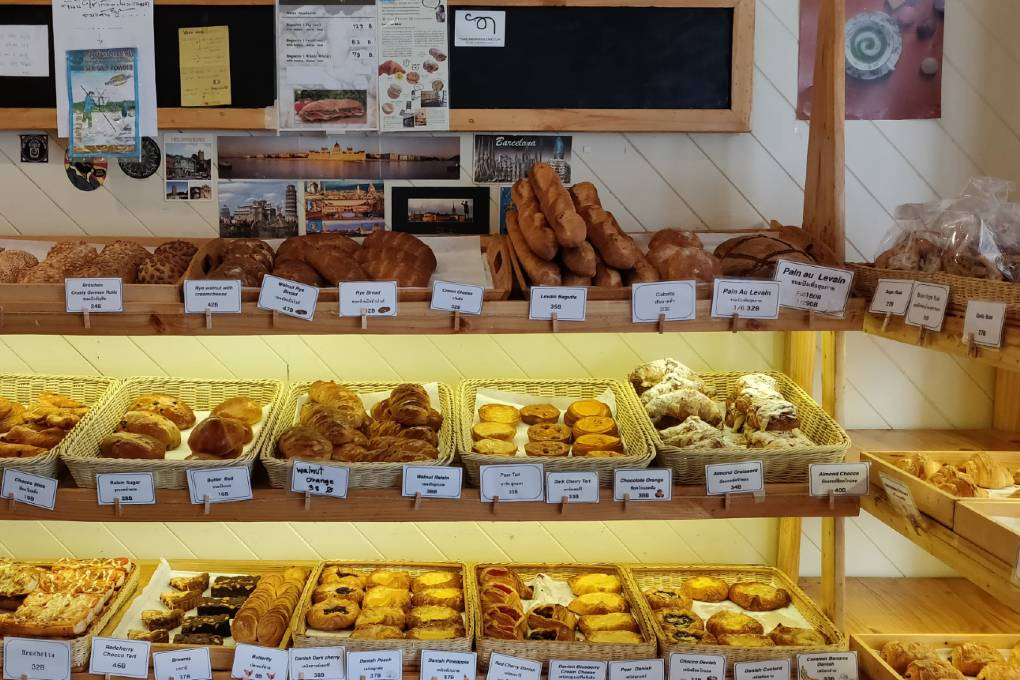 So much choice at Konnichipan Bakery in Bangkok's Old Town