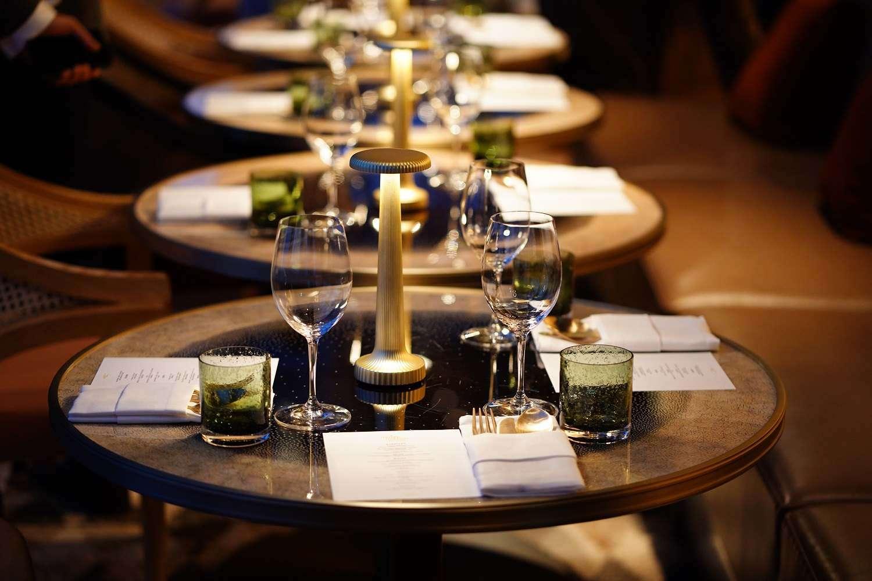 Set table in the Mahahakhon Sky Bar & Restaurant