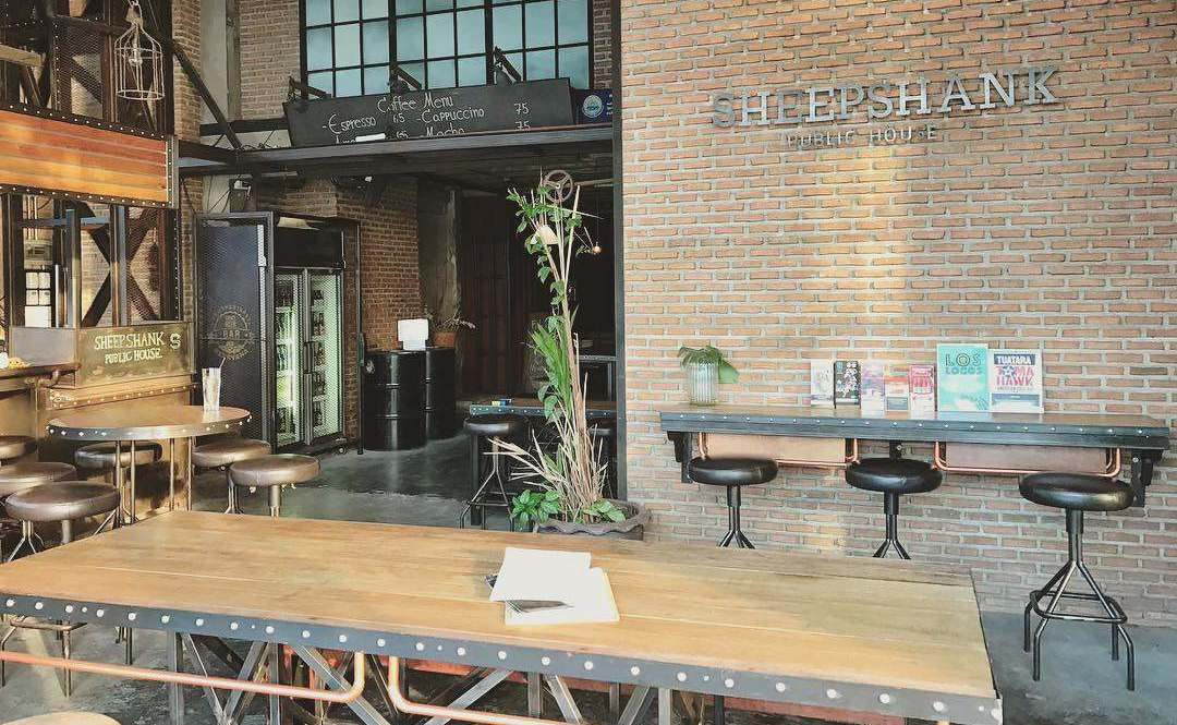 Interior of Sheepshank Public House at Chao Phraya River in Bangkok'sOld Town