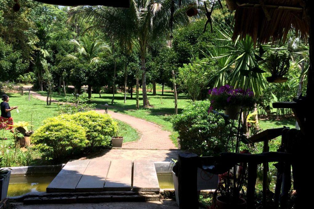 De tuin van het Baan Khao Sok Resort