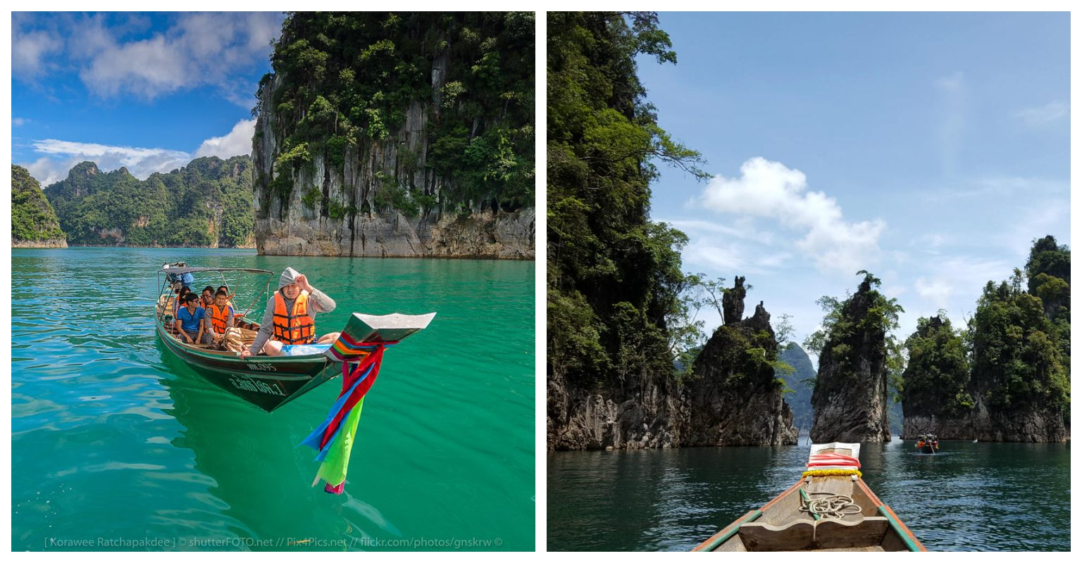 day trip to the lake, cheow Lan Lake in Khao Sok Thailand