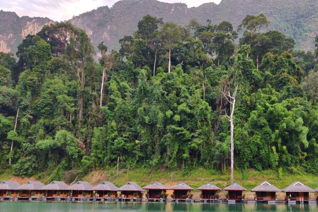 Cheow Lan Lake Khao Sok National Park, floating raft houses