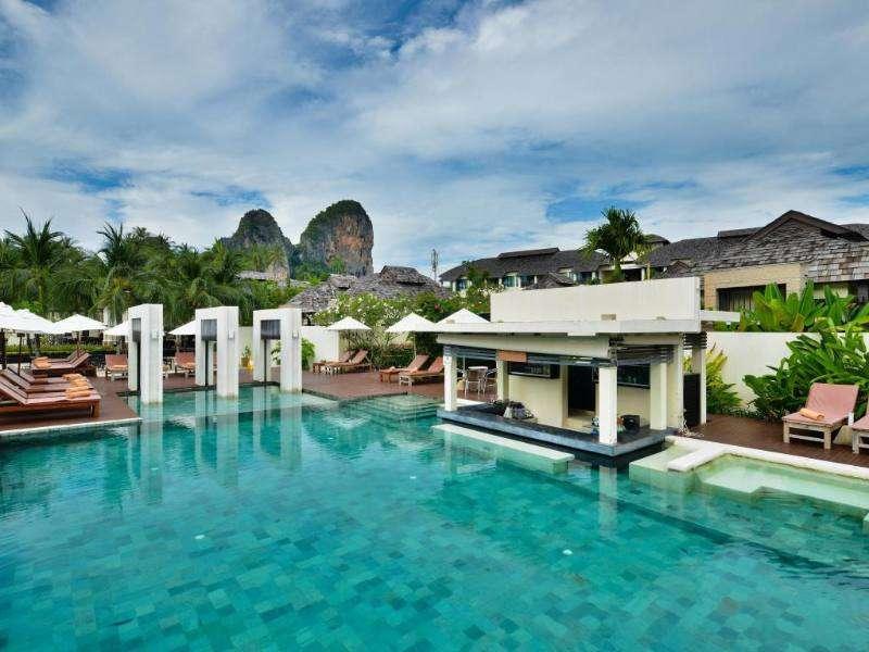 The pool at the Bhu Nga Thani Resort
