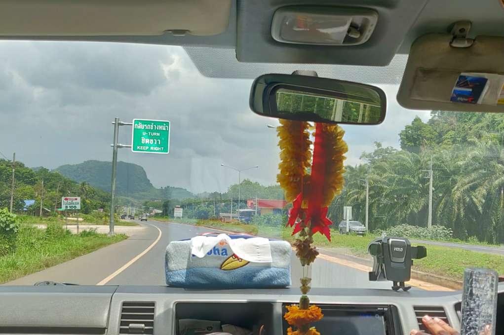 Met de auto reizen naar Khao Sok (National Park)