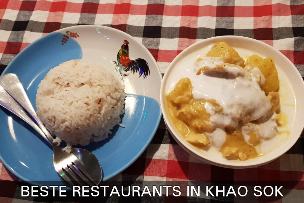 Masaman En Rijst, Klik Hier Voor De Beste Restaurants In Het Dorpje Van Khao Sokk