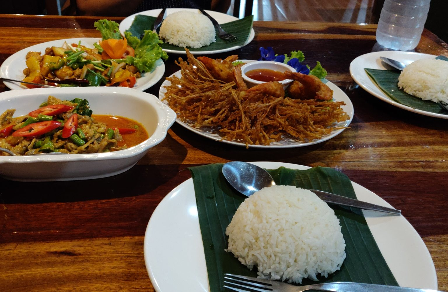 A delicious Thai meal at the Khao Sok Nature Resort