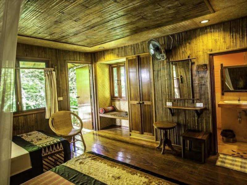 A bungalow seen from the inside of the Railay Garden View Resort