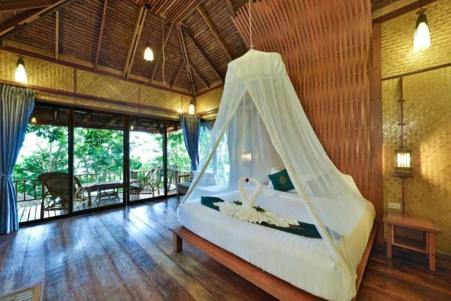 Kamer van binen in het Railay Great View Resort