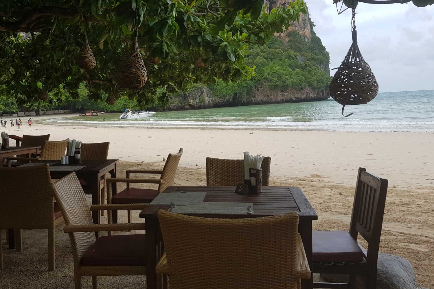 The restaurant on the beach of Railay West of the Railay Village Resort & Spa