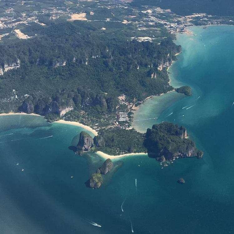 Krabi Railay Beach vanaf de lucht