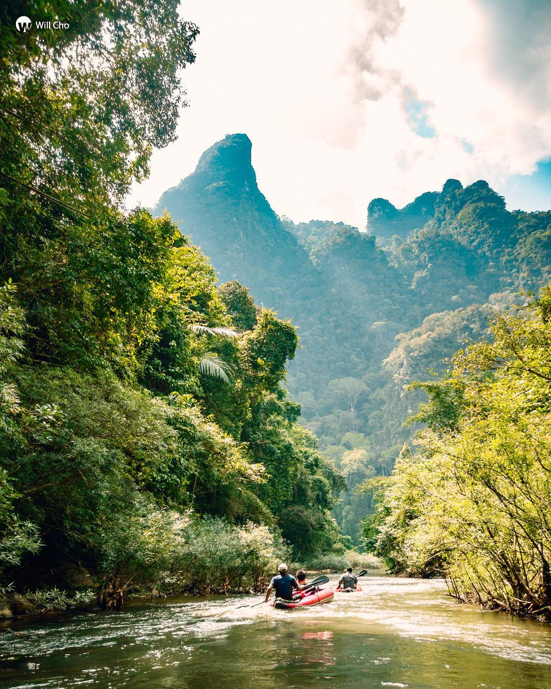 Canoeing on the River Sok in Khao Sok National Park
