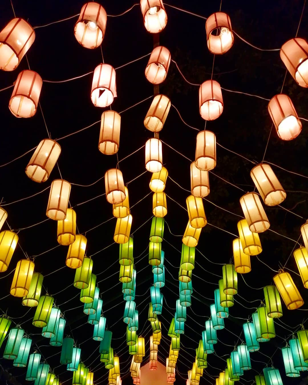 Allemaal gekleurde lantaarns
