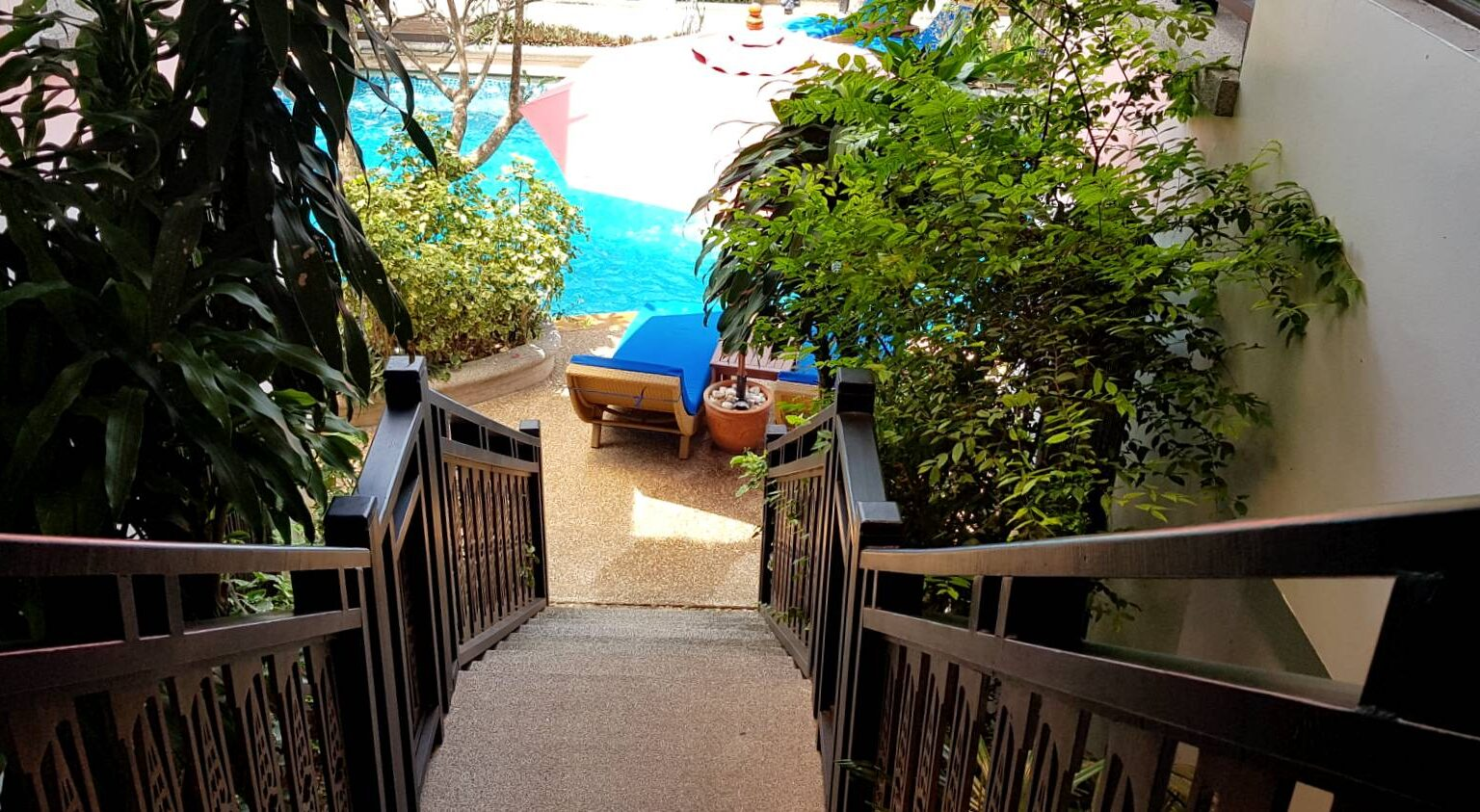 Stairs to the pool, Deluxe Pool View, Krabi
