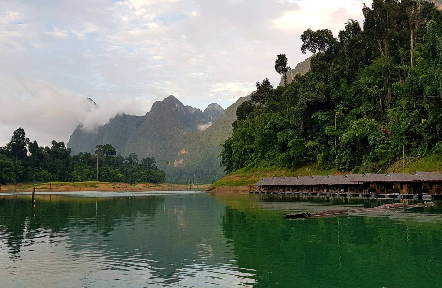 Clouds around mountains, rainy season in Khao Sok