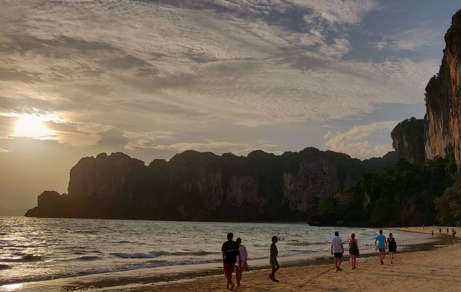 Zonsondergang Railay West. Krabi