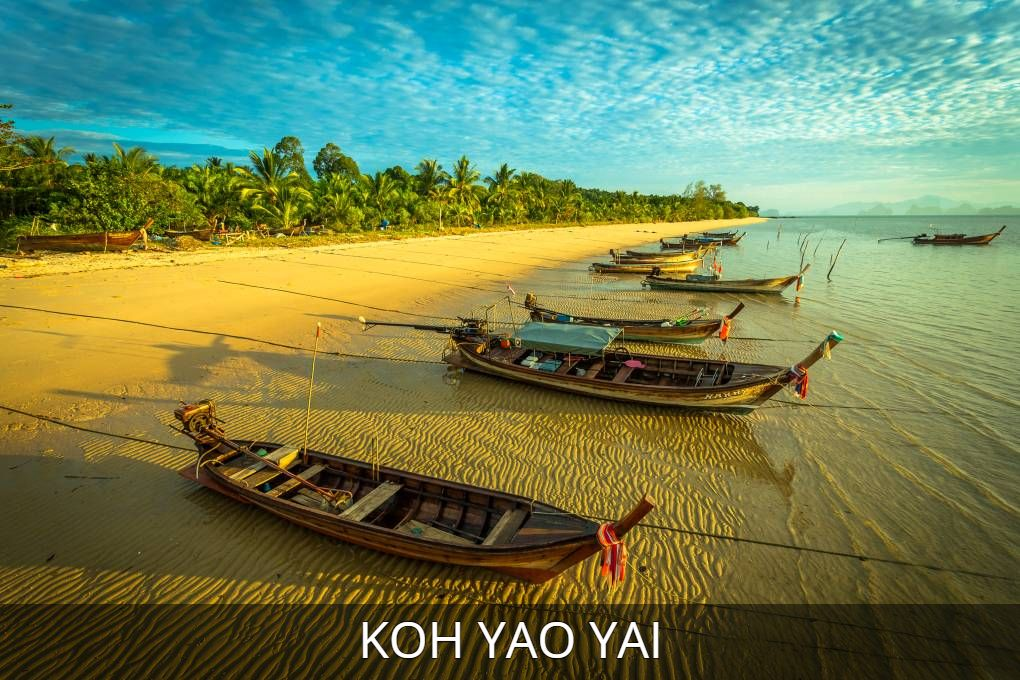 Photo Koh Yao Yai with link to all information about the island