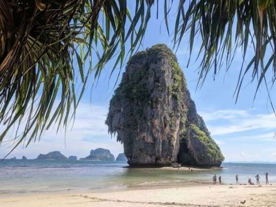 The Rock Of Phra Nang Beach On Krabi Railay Beach