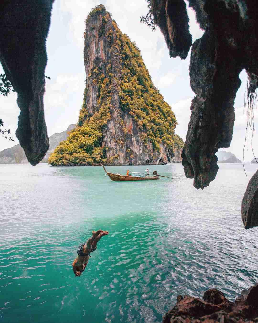 Een duik nemen op Phra Nang Beach