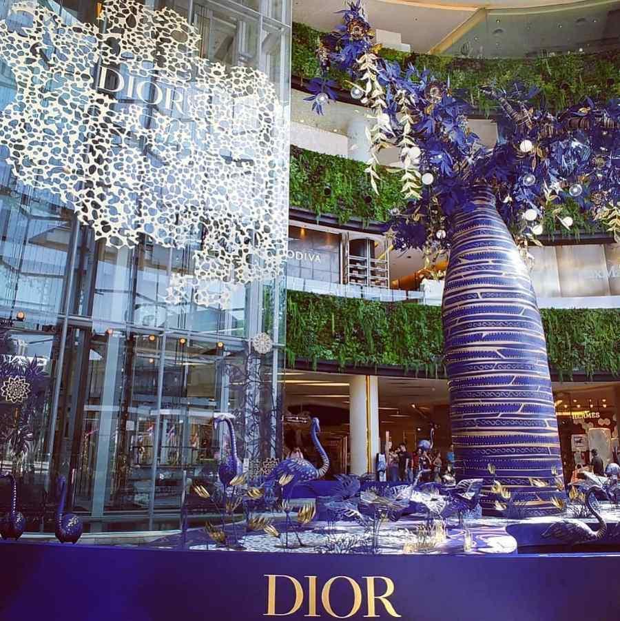 Dior promotie met kerstmis