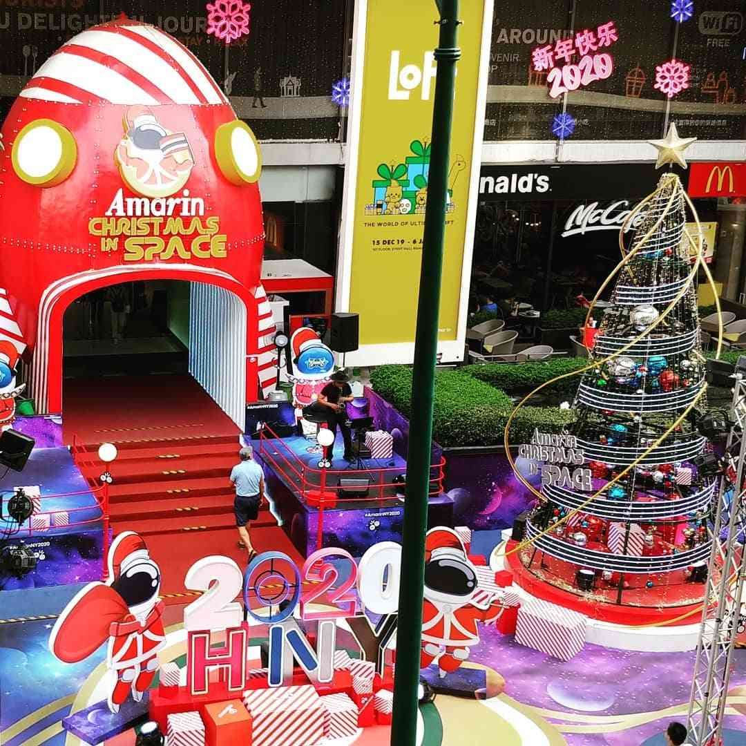 Christmas in Space thema bij Amarin Plaza
