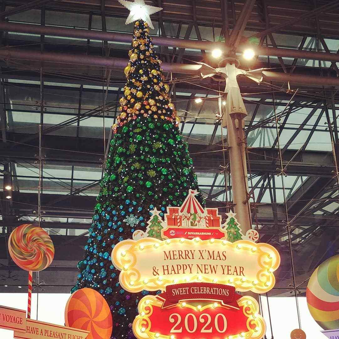 Coloured large Christmas tree